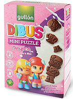 Печенье с какао Gullon Dibus Mini Puzzle 250 г Испания