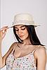 Шляпа канотье Вивиан молочный цвет, фото 2