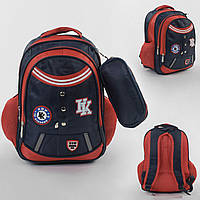 Рюкзак (портфель) детский школьный 43511, 1 отделение, 4 кармана, мягкая спинка, пенал