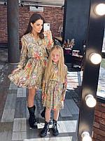 Комплект платья Мама и дочка, фото 1