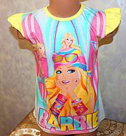 Летняя футболка для девочки Барби 7-10 лет. Турция