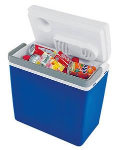Портативный автохолодильник Mirabelle E-24 12/230 V, 24 л (Синий)  с переходником 220V