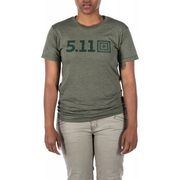 "Футболка женская ""5.11 Tactical LEGACY TONAL S/S TEE"", [223] Military Green Heather"