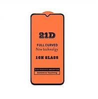 Защитное стекло 21D Full Glue для Tecno Spark 4 Lite черное 0,3 мм в упаковке