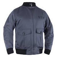 "Куртка-бомбер ""USN-37J1 Pilot Jacket"", Graphite"