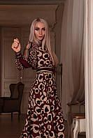 Летнее платье бордовое