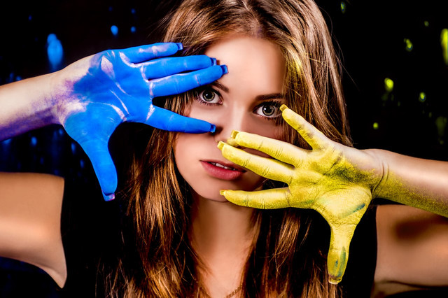 Фотосесія з сухими фарбами холі