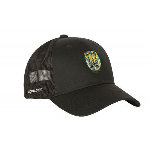 """Бейсболка с логотипом """"Донбас"""" (сетчатая вставка), [1149] Combat Black"""