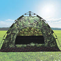 Палатка автоматическая 4-х местная Камуфляж