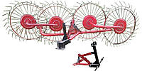 Грабли для минитрактора 4 колеса (ворошилки, солнышко)