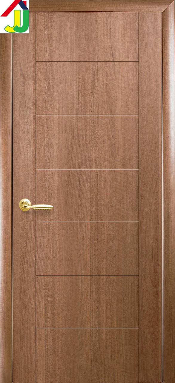 Двері міжкімнатні Новий стиль ПВХ Ріна UM Плюс Золота вільха