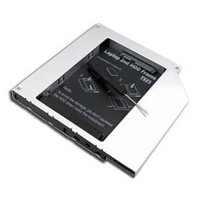 Адаптер на второй жесткий диск 2.5 SATA-SATA, 9.5