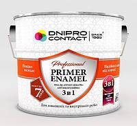 """Грунт-емаль 3 в 1 2.8 кг ЧЕРНАЯ краска для дерева и бетона ТМ """"DNIPRO CONTACT"""""""