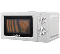 Мікрохвильова піч GRUNHELM 20MX701-W (біла) 20л, 800 Вт (6 рівнів потужності), механічна