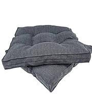 """Подушка на стул графитового цвета """"Stone"""", 40х40 см"""