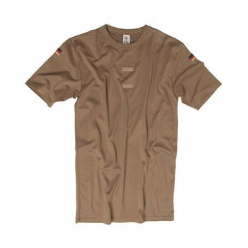 Футболка тропическая Бундесвер с флажками и липучкой, [112] Dark Brown