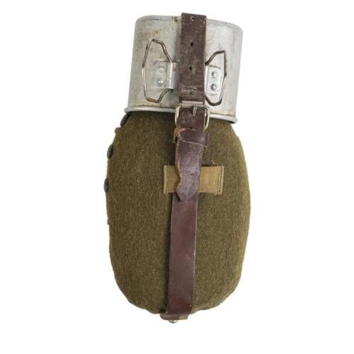 Фляга алюминиевая с кружкой и чехлом Румыния (б/у) [999] Multi