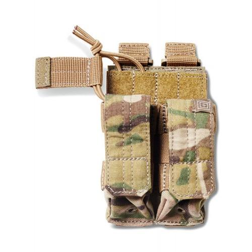 """Подсумок тактический для двух пистолетных магазинов """"5.11 DOUBLE PISTOL BUNGEE COVER MCM"""", [169] Multicam"""