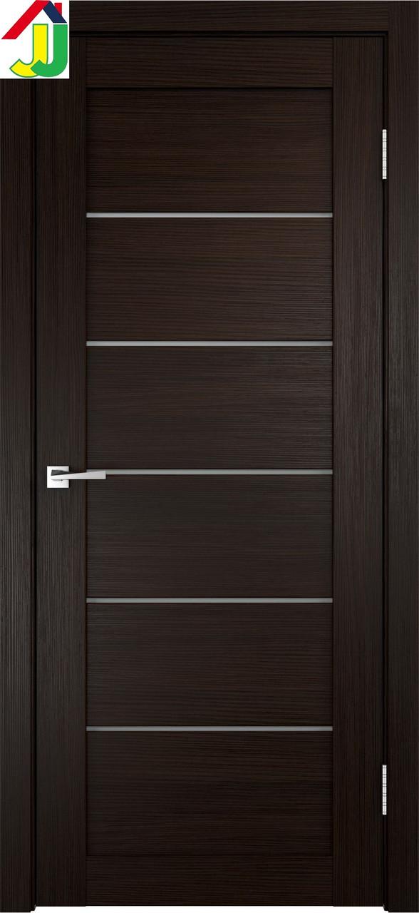 Двери межкомнатные LINEA 1x Венге, дверь для квартиры, дверь для дома, дверь в офис.