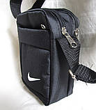 Сумка мужская через плечо спортивная компактная барсетка черная 16х13см, фото 4