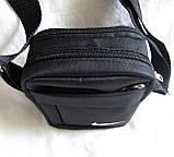 Сумка мужская через плечо спортивная компактная барсетка черная 16х13см, фото 3