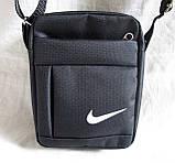 Сумка мужская через плечо спортивная компактная барсетка черная 16х13см, фото 2