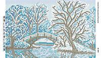 Схема для вышивания бисером ''Зима'' А3 29x42см
