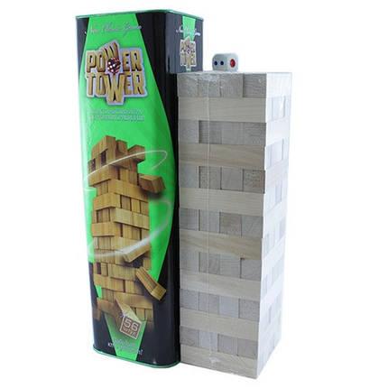 Настольная игра Дженга Башня Jenga Power Tower Джанга PT-01 56 брусков, фото 2
