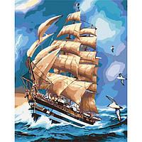 Картина по номерам Морской пейзаж Во время грозы 40x50 см KHO2712