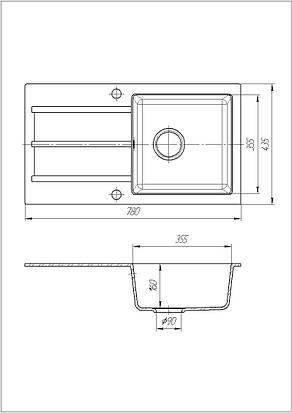 Кухонна мийка Galati Quadro Seda (601), фото 2