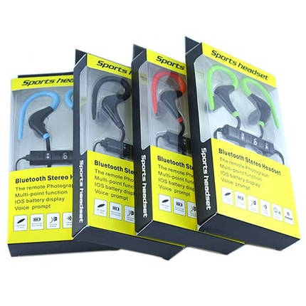 Наушники беспроводные Bluetooth спортивные гарнитура BT-1 для спорта, фото 2
