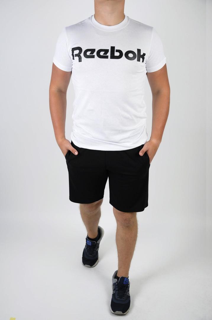 Футболка +шорты Reebok.Стильный мужской летний костюм.