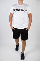 Футболка +шорты Reebok.Стильный мужской летний костюм., фото 1