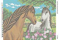 Схема для вышивания бисером ''Лошади'' А3 29x42см