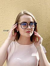 Имиджевые очки в черной оправе с покрытием антиблик
