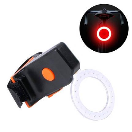 Фонарь велосипедный задний аккумуляторный LED кольцевой, фото 2
