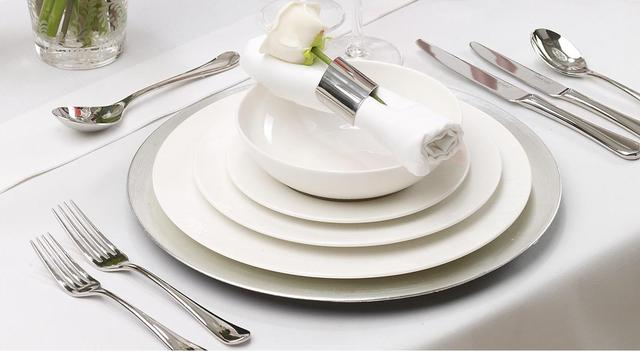 Тарелки для сервировки Extra White.