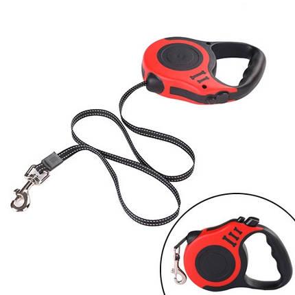 Поводок рулетка механический для собак до 14кг, 5м прочный, фото 2