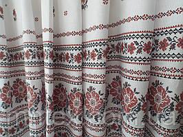 """Ткань для пошива скатертей рогожка Вишиванка / """"Чарівна Ніч"""""""