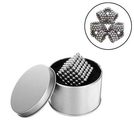 Неокуб конструктор головоломка магнитные шарики, серебряный, фото 2