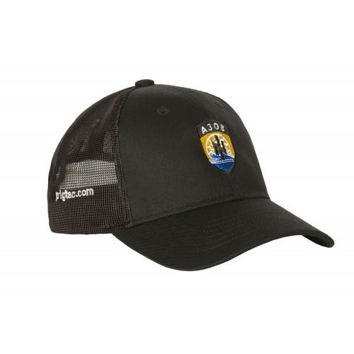 """Бейсболка с логотипом """"АЗОВ"""" (сетчатая вставка), [1149] Combat Black"""
