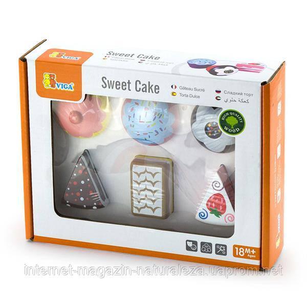 Набор кулинара Viga Toys Пирожные 6 шт. (59533)