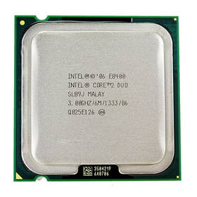 Процессор Intel Core 2 Duo E8400, 2 ядра 3ГГц, LGA 775