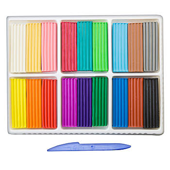 Пластилин для детского творчества со стеком Луч Классика 18 цветов 360 г 20С1330-08 (540255)(4601185008384)