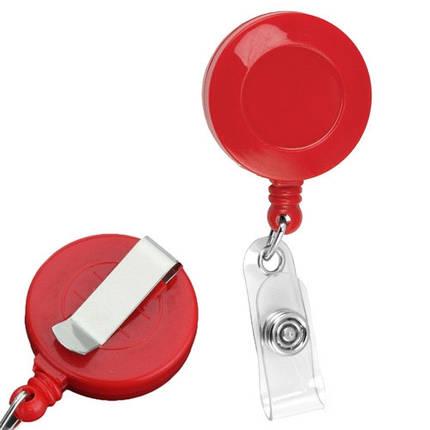 Ретрактор, выдвижной брелок для карт доступа, ключей, бейджа, нить 80см, фото 2