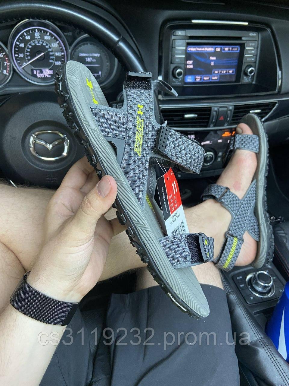 Мужские сандали Under Armour Sandals Fattire x Michelin Gray (серые)