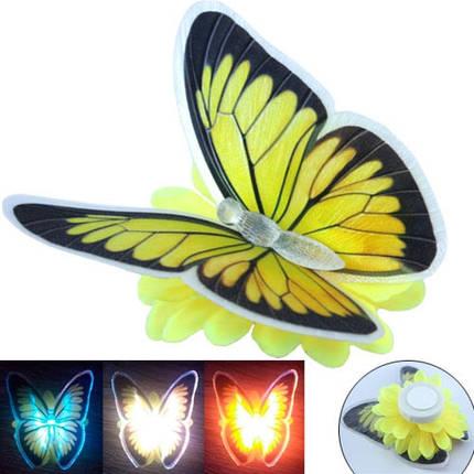 Светильник ночник светящаяся Бабочка светодиодный LED 10см, фото 2