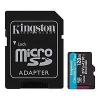 MicroSDXC  128GB UHS-I/U3 Class 10 Kingston Canvas Go! Plus R170/W90MB/s + SD-адаптер (SDCG3/128GB)