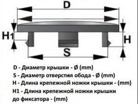 Колпачок без логотипа  59х55х9.5х5