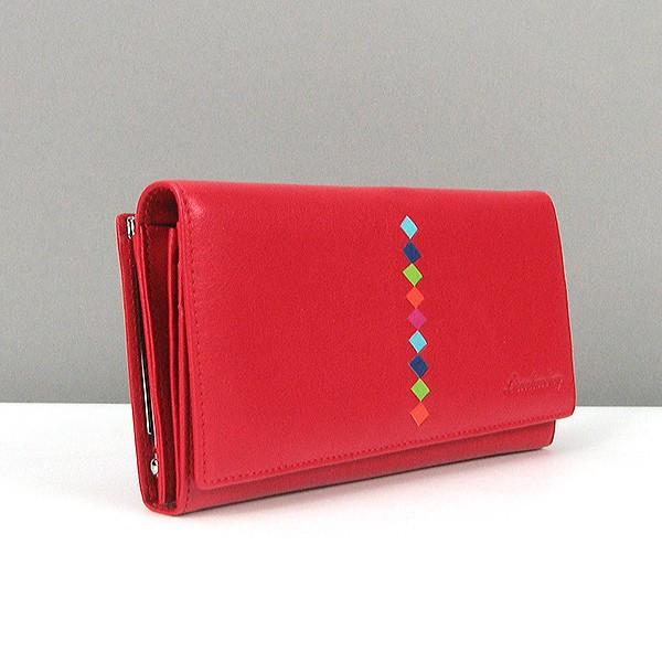 Кошелек кожаный женский красный Lison Kaoberg 94-575